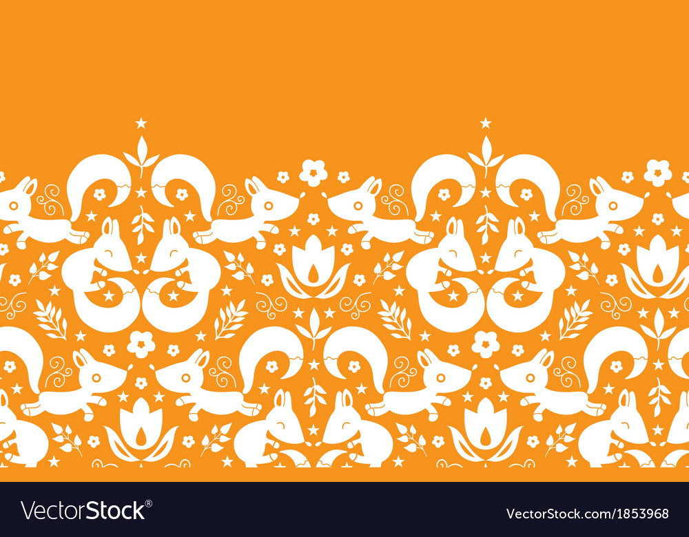 Cute geometrical foxes horizontal border seamless vector   Price: 1 Credit (USD $1)