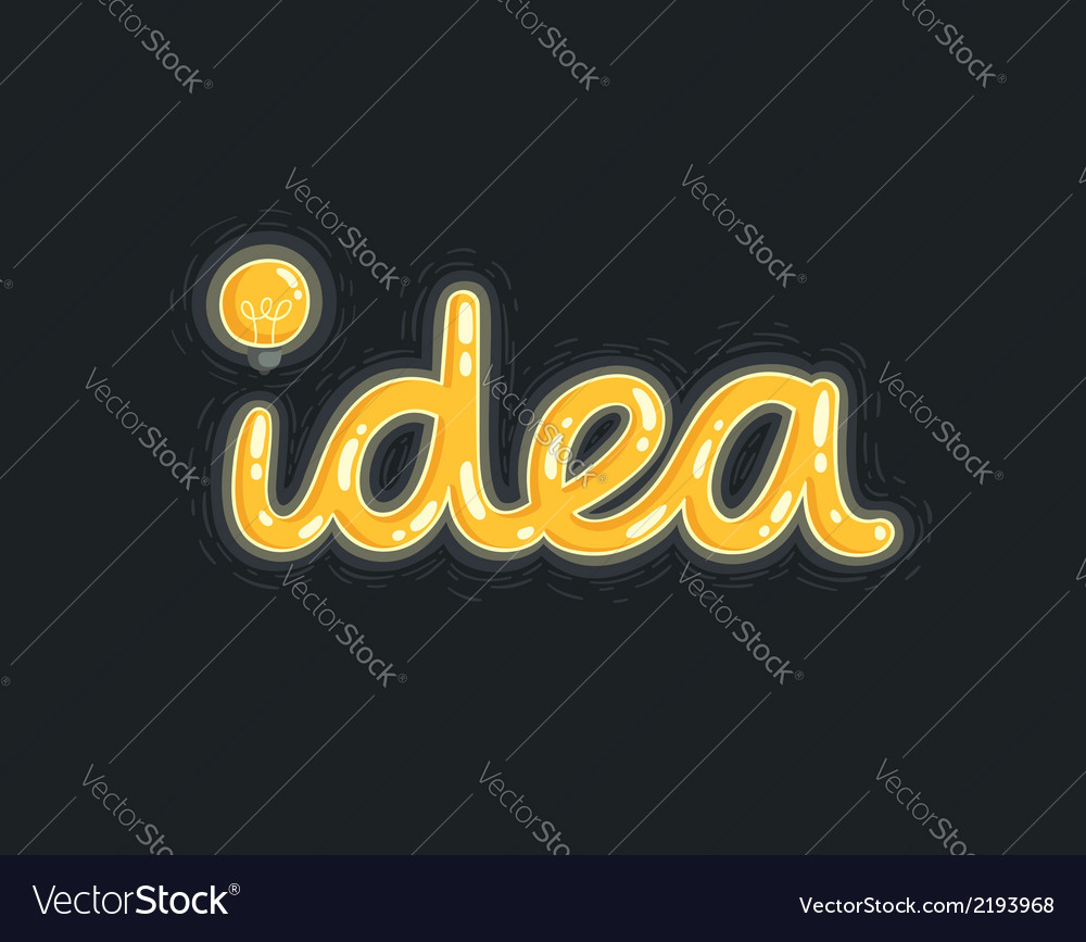 Idea on black vector | Price: 1 Credit (USD $1)