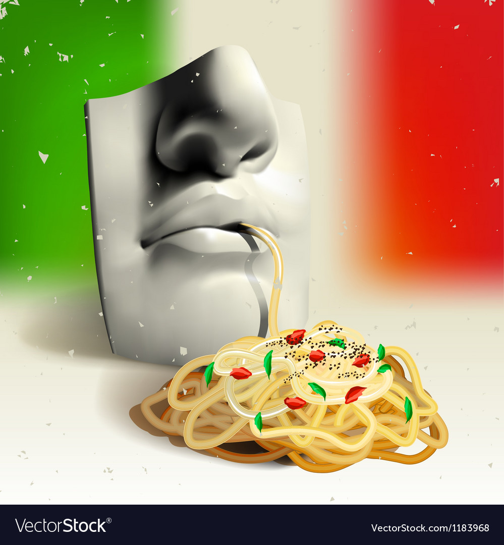Italian food - concept vector | Price: 3 Credit (USD $3)
