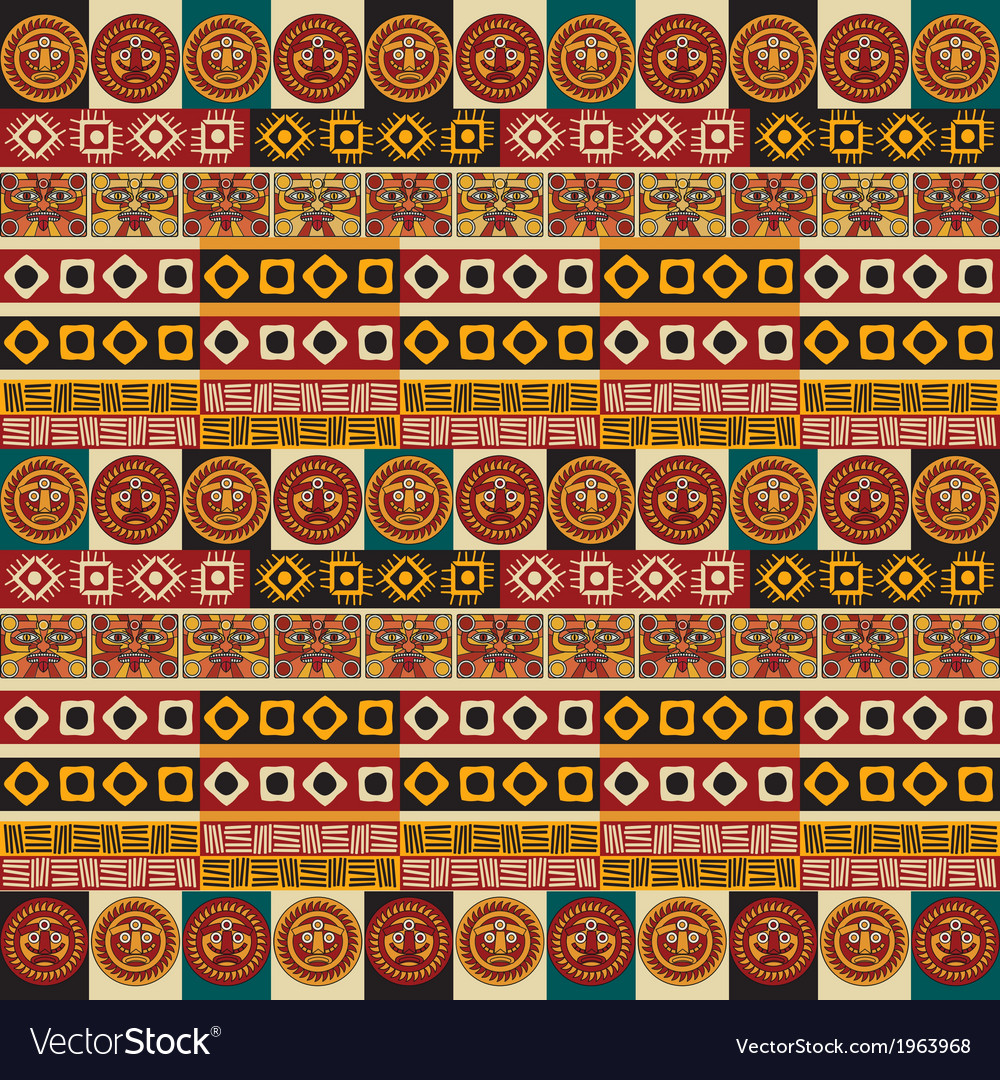 Mayan aztec tribal seamless texture vector | Price: 1 Credit (USD $1)