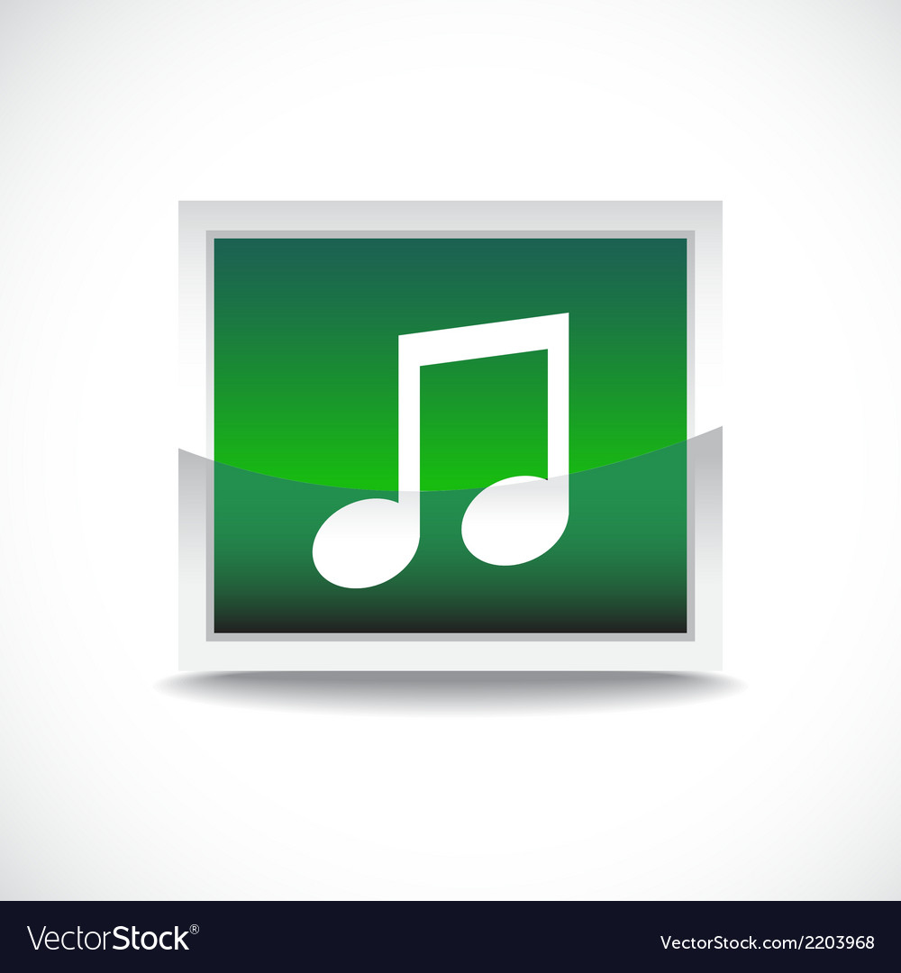 Music sign button vector | Price: 1 Credit (USD $1)