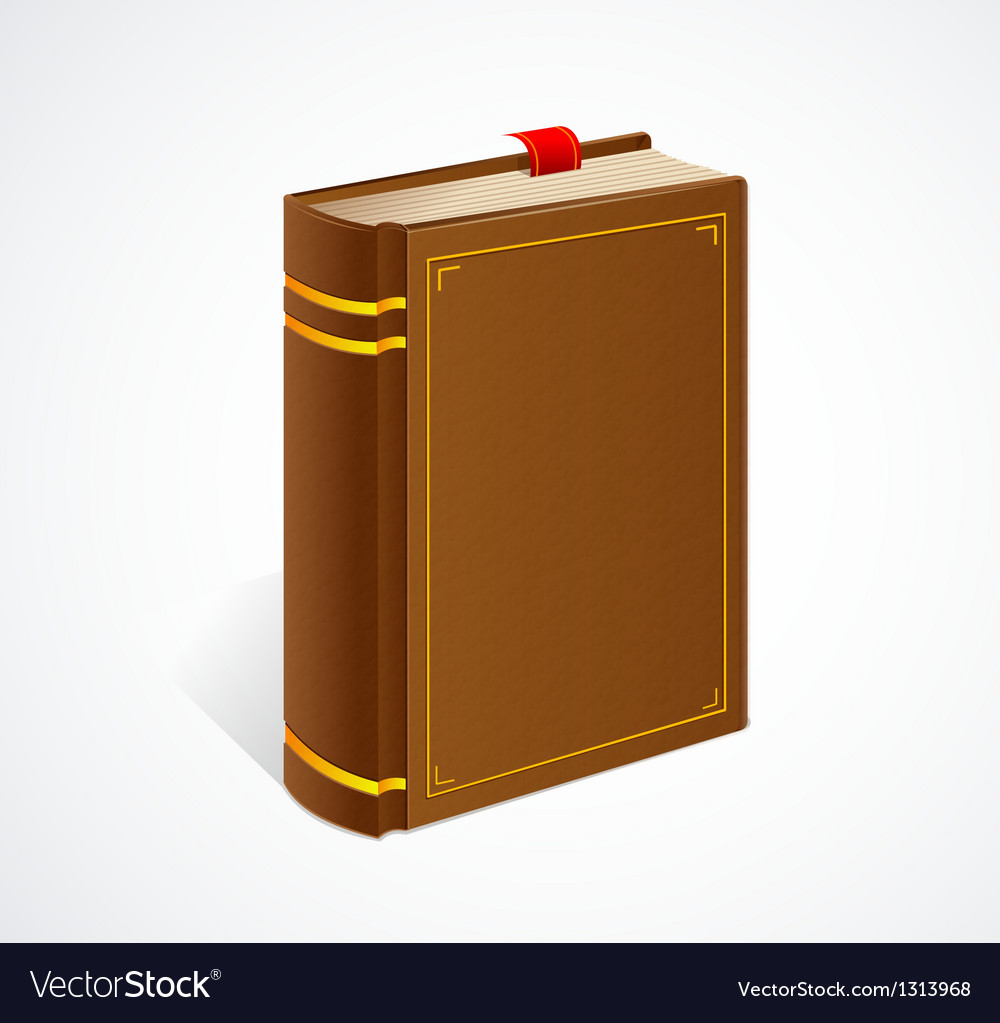 Old book with bookmark isolated icon vector | Price: 1 Credit (USD $1)
