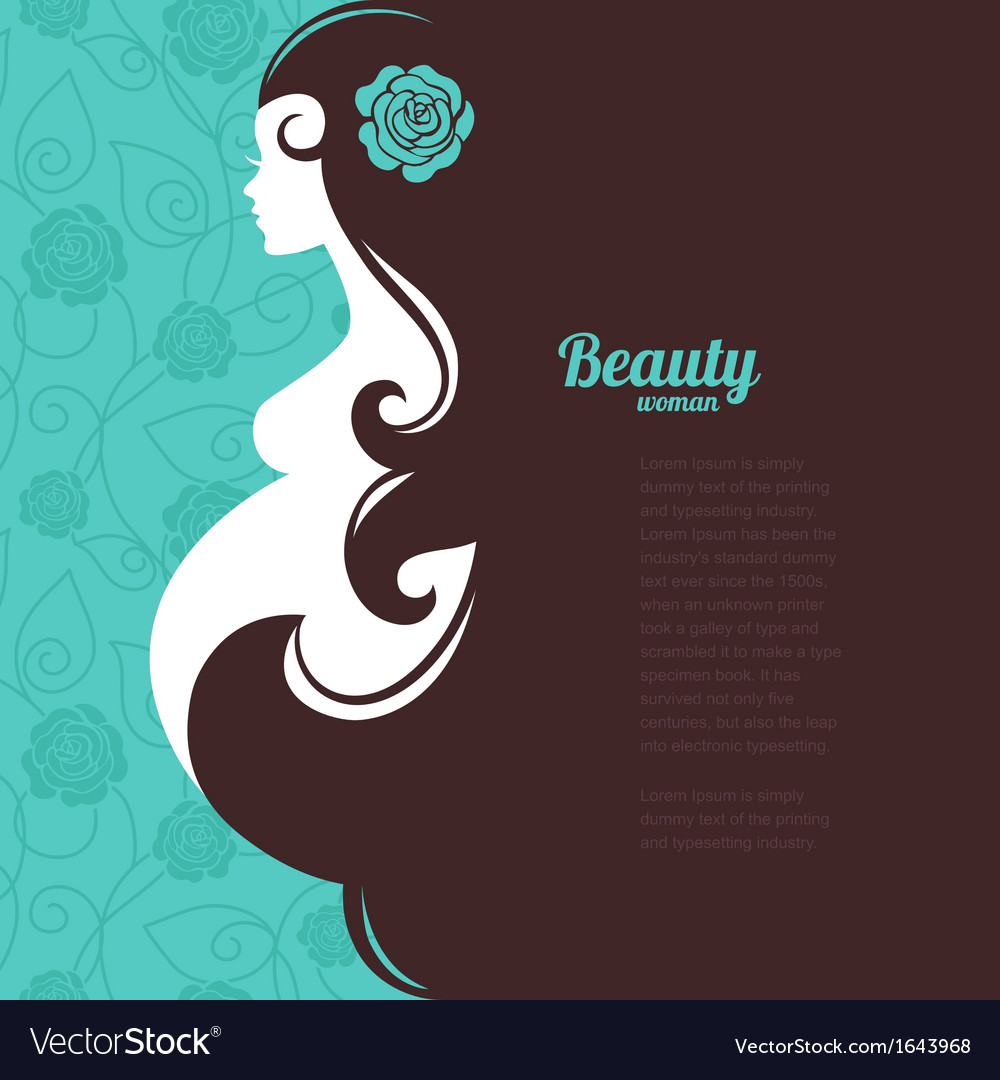 Pregnant woman silhouette vector | Price: 1 Credit (USD $1)