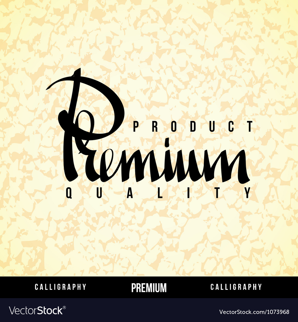 Premium lettering vector | Price: 1 Credit (USD $1)
