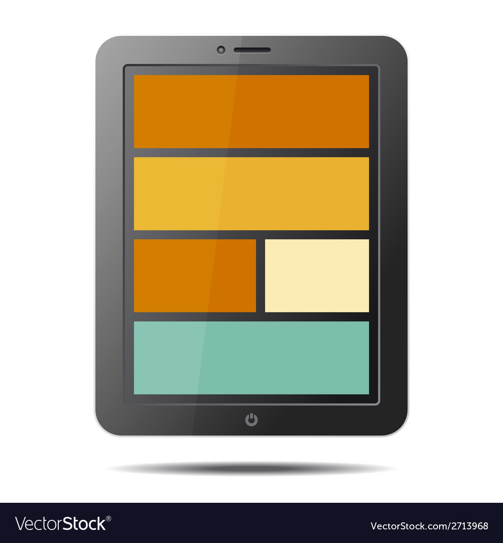 Realistic tablet pc computer with flat style vector | Price: 1 Credit (USD $1)