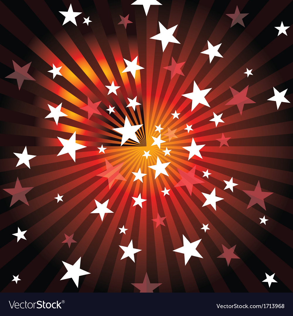 Sun rays and stars vector | Price: 1 Credit (USD $1)