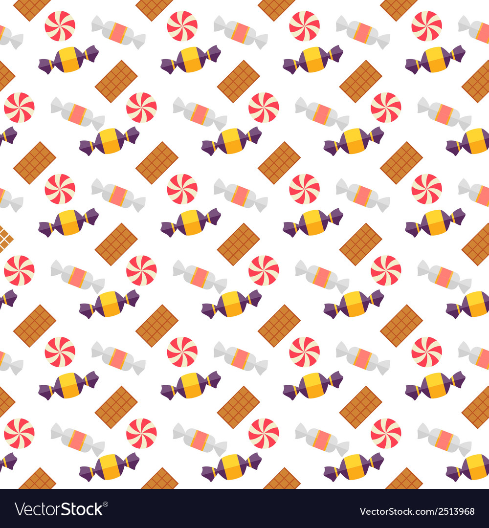 Sweet scandy and cookies seamless pattern vector | Price: 1 Credit (USD $1)