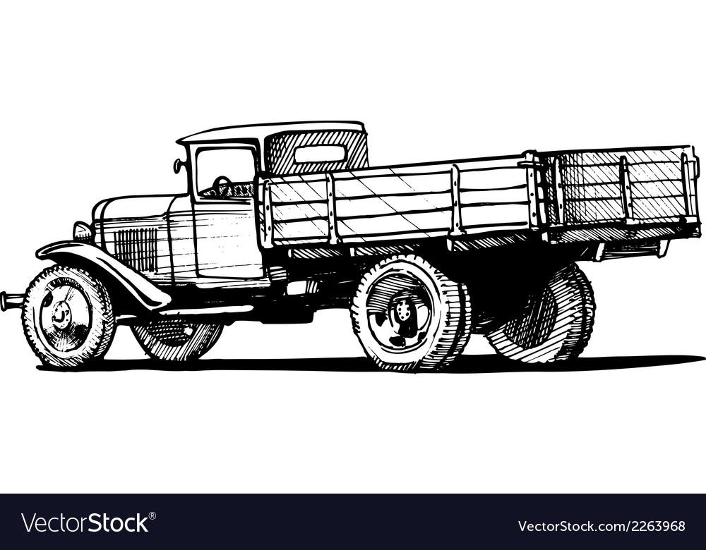 Vintage truck vector | Price: 1 Credit (USD $1)
