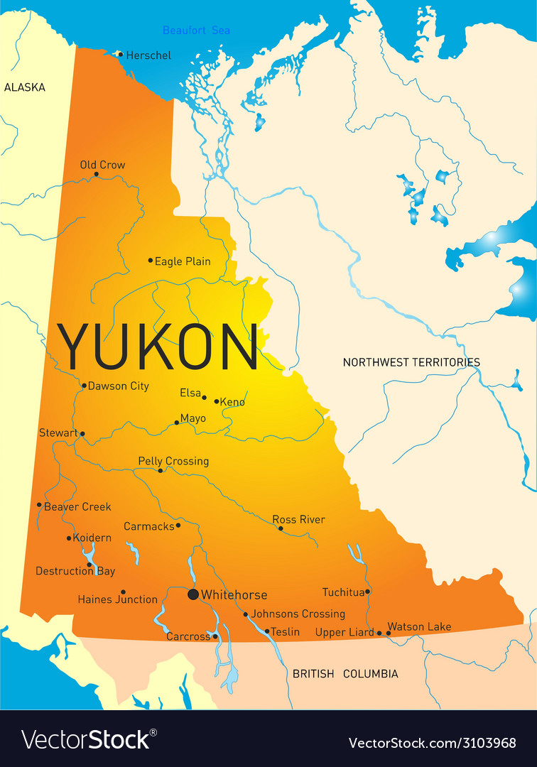 Yukon province vector | Price: 1 Credit (USD $1)