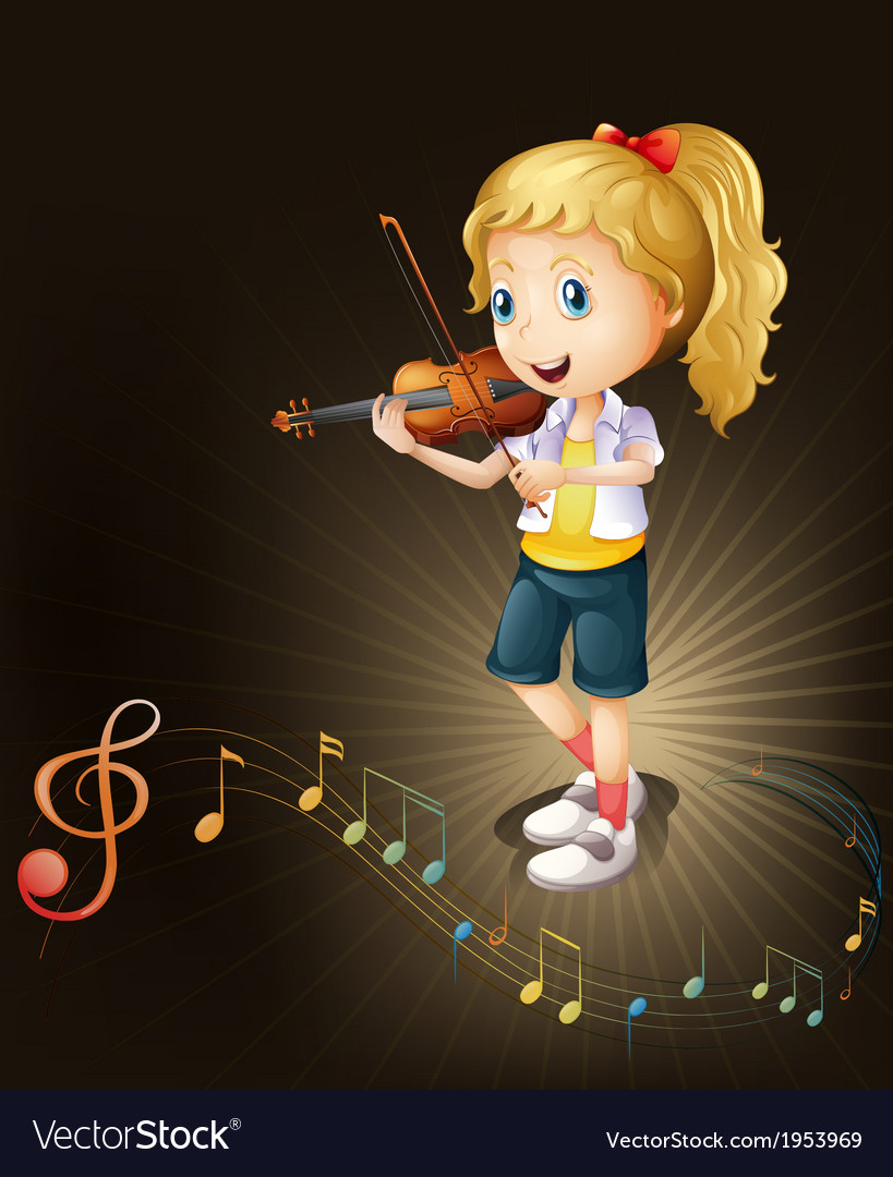 A talented violin player vector | Price: 1 Credit (USD $1)