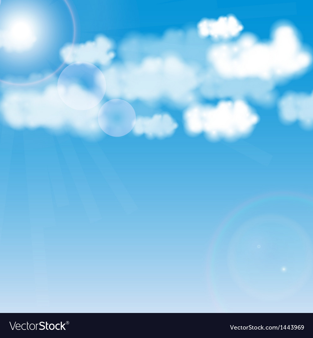 Blue sky with white cloud vector | Price: 1 Credit (USD $1)