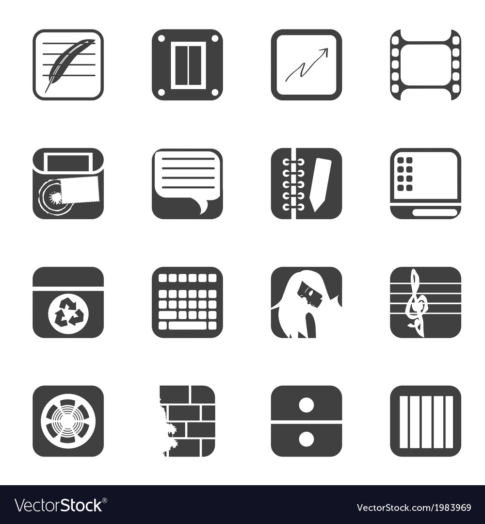 Business and mobile phone icons vector | Price: 1 Credit (USD $1)