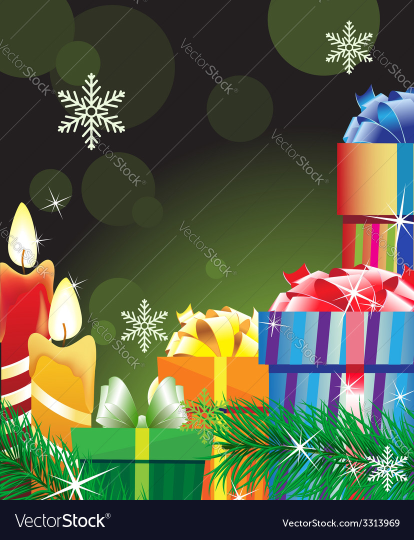 Magic green christmas background vector | Price: 3 Credit (USD $3)