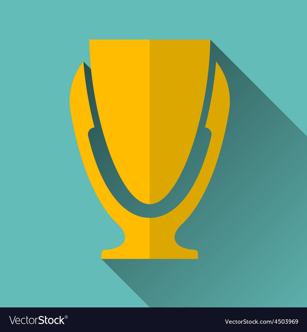 Modern trophy cup icon vector | Price: 1 Credit (USD $1)