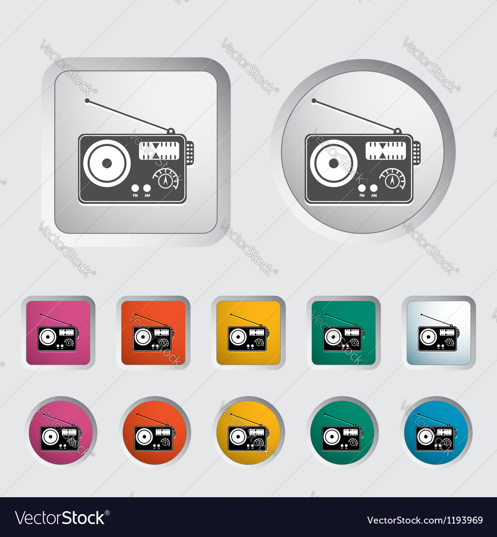 Radio single icon vector | Price: 1 Credit (USD $1)