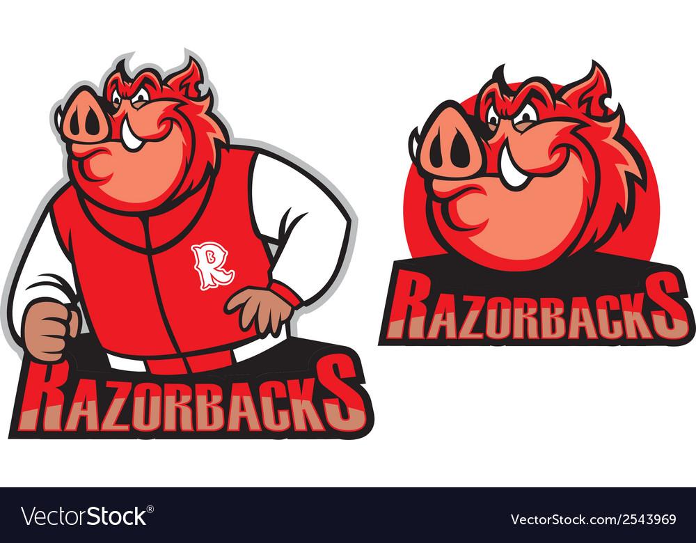 Razorback school mascot vector | Price: 1 Credit (USD $1)