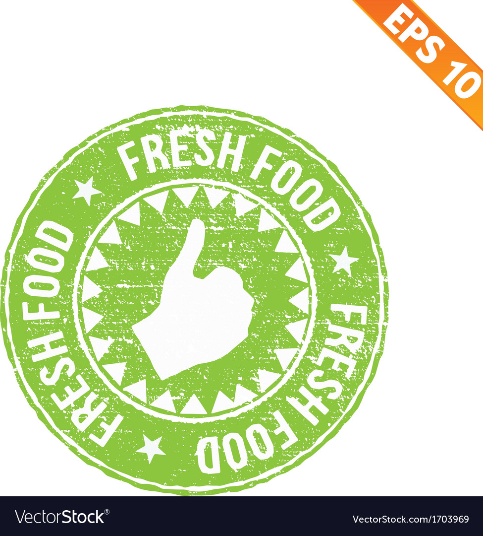 Rubber stamp food - - eps10 vector | Price: 1 Credit (USD $1)