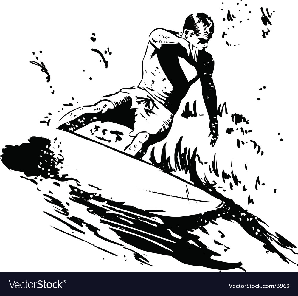 Surfer short board vector | Price: 1 Credit (USD $1)