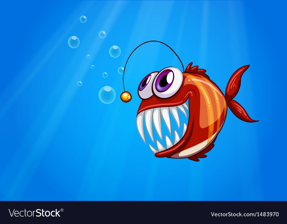 A scary piranha under the sea vector | Price: 1 Credit (USD $1)