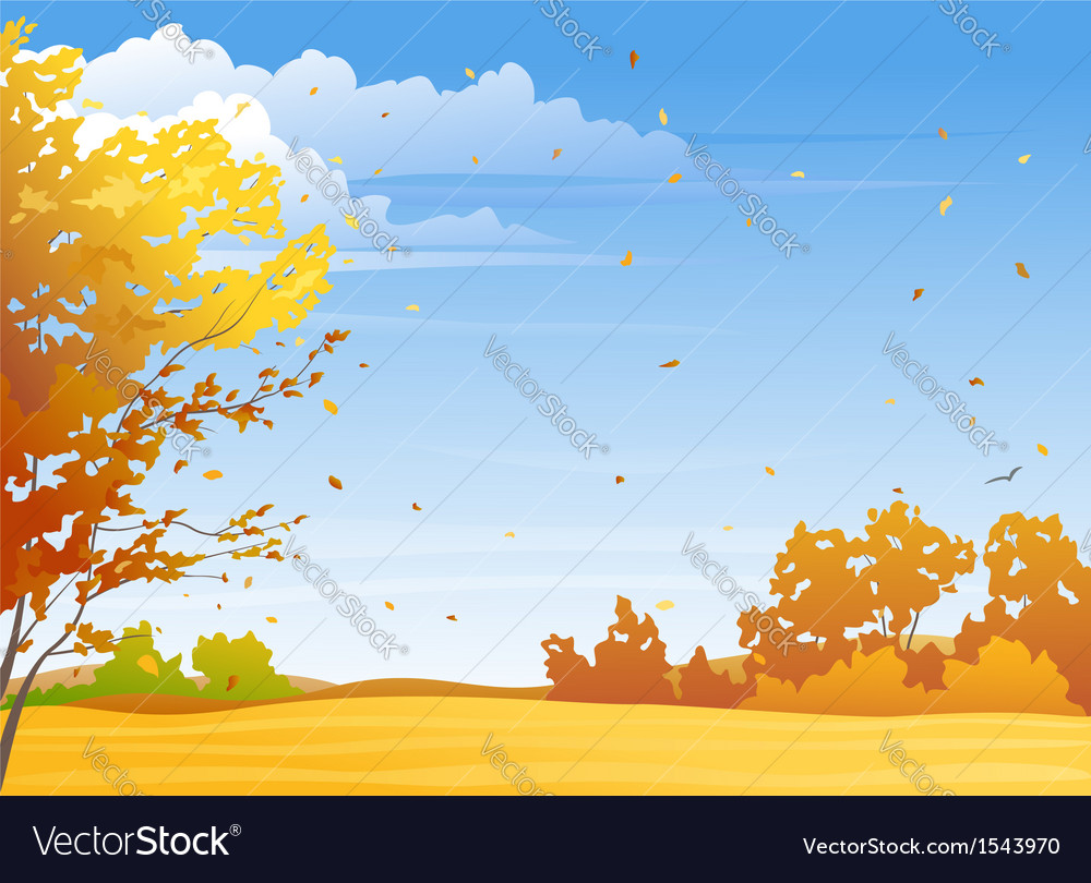 Autumn day vector | Price: 1 Credit (USD $1)
