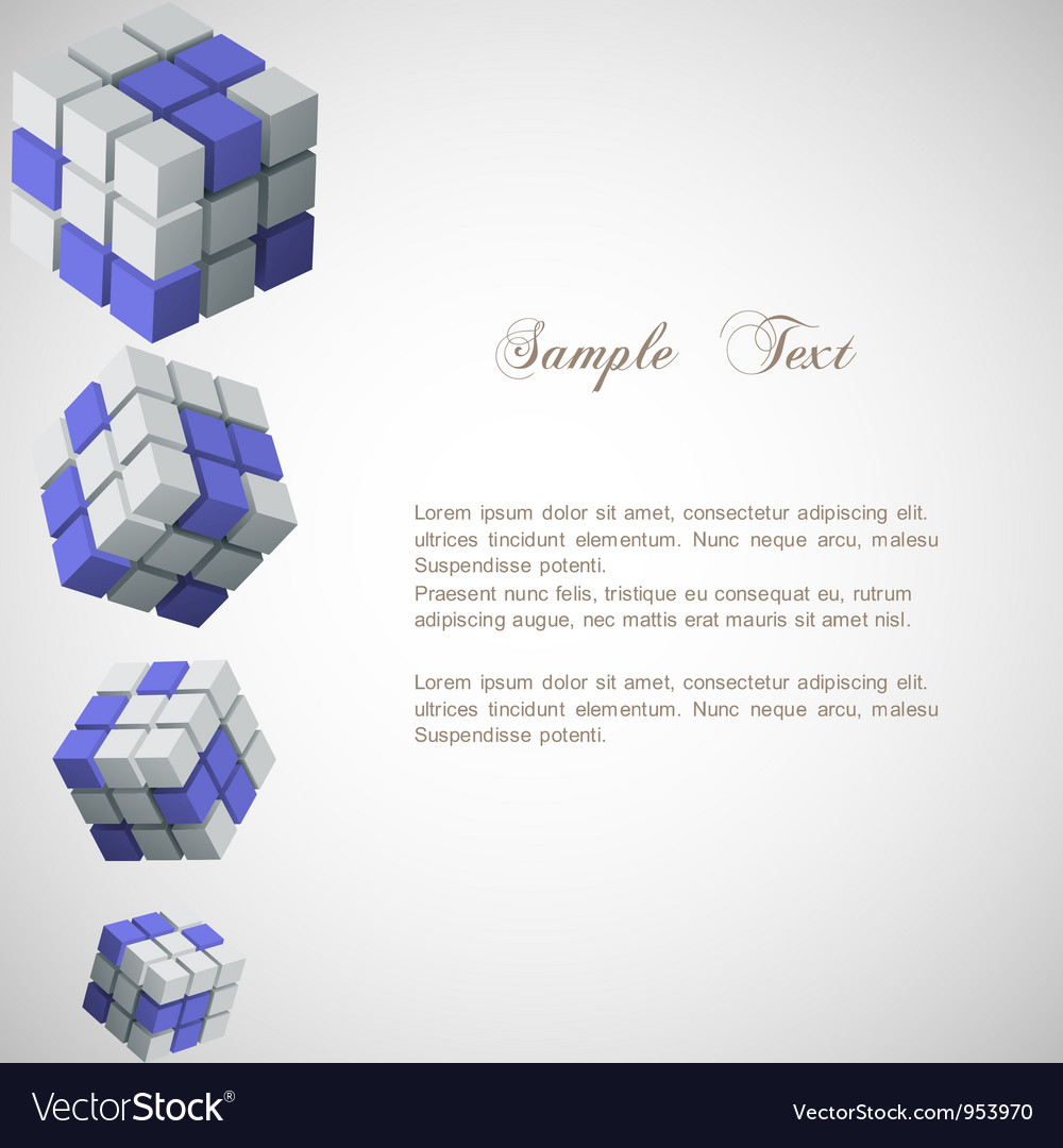 Background with 3d cubes vector | Price: 1 Credit (USD $1)