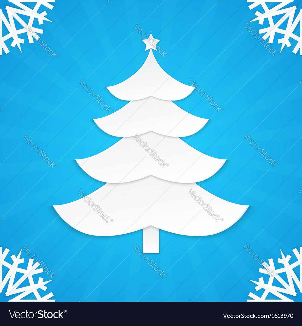 Christmas postcard tree 1 vector | Price: 1 Credit (USD $1)