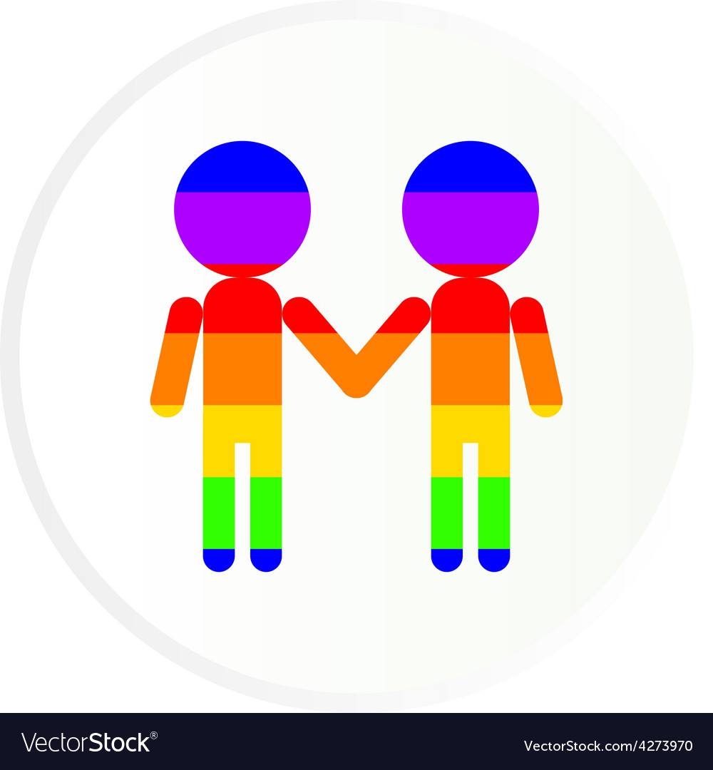 Gay couple vector | Price: 1 Credit (USD $1)
