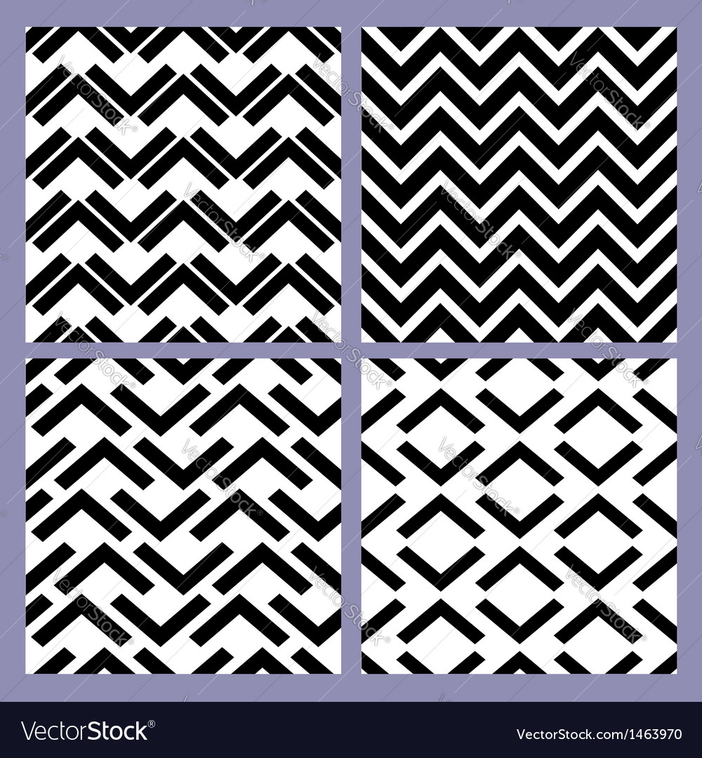 Geometric seamless pattern set retro vintage vector | Price: 1 Credit (USD $1)