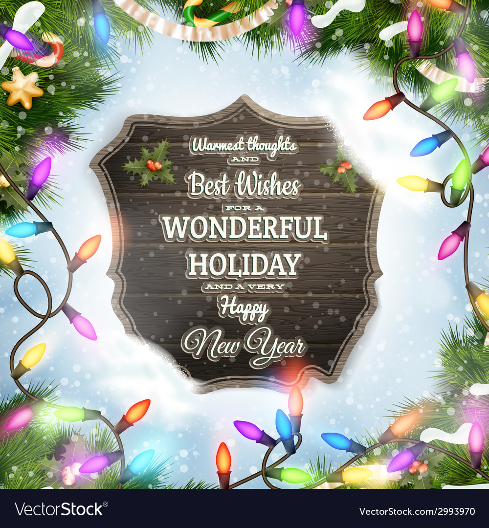Merry christmas wooden board garland vector   Price: 3 Credit (USD $3)