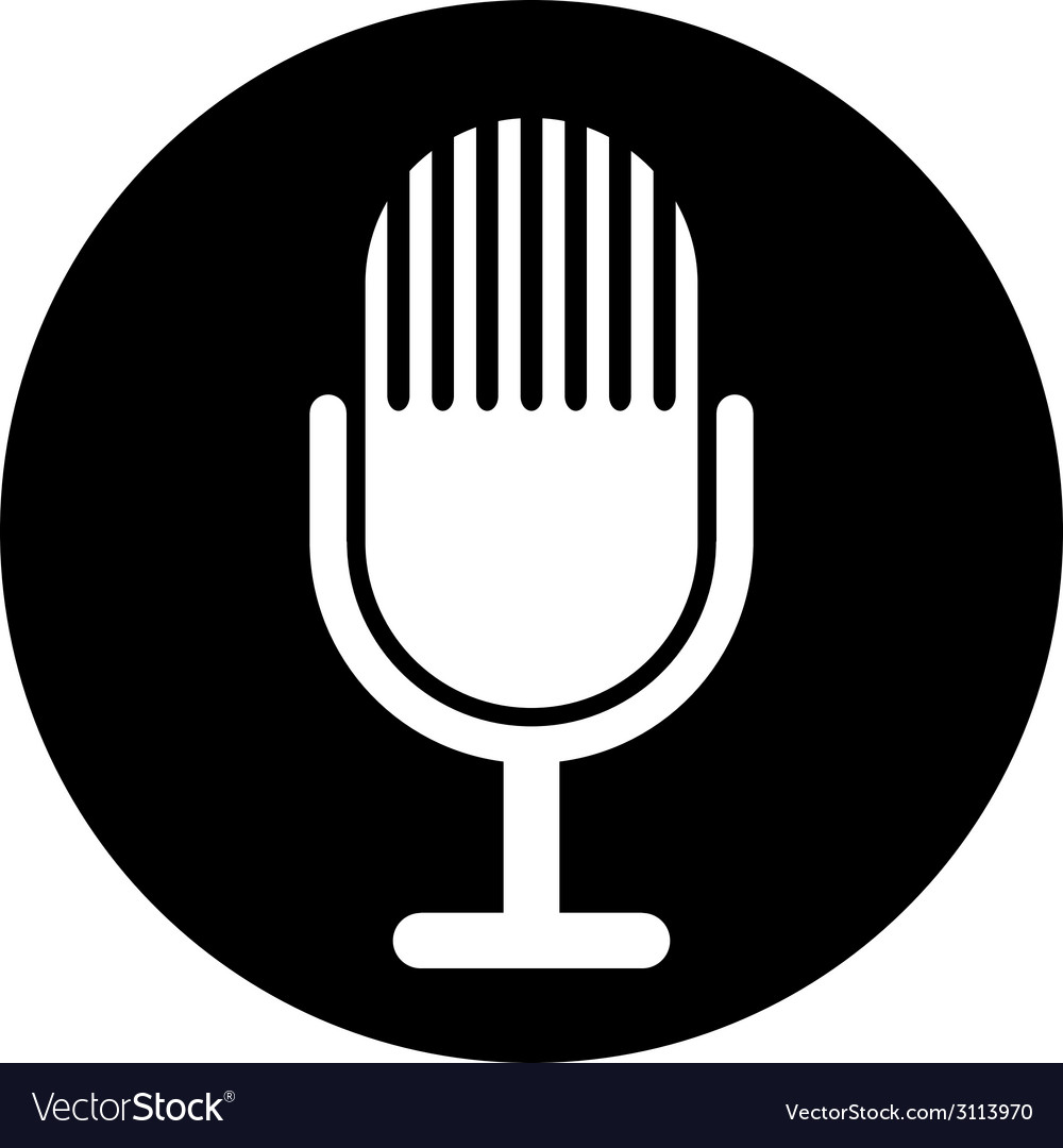 Microphone symbol button vector | Price: 1 Credit (USD $1)