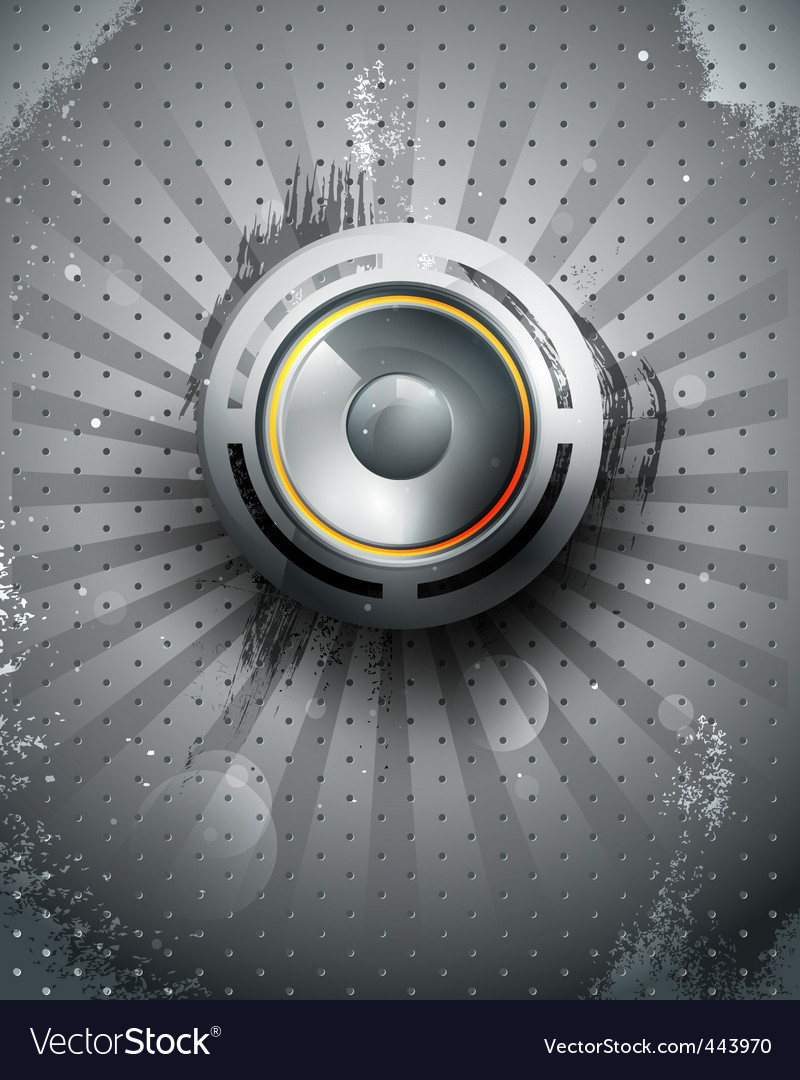musical speaker icon vector | Price: 1 Credit (USD $1)