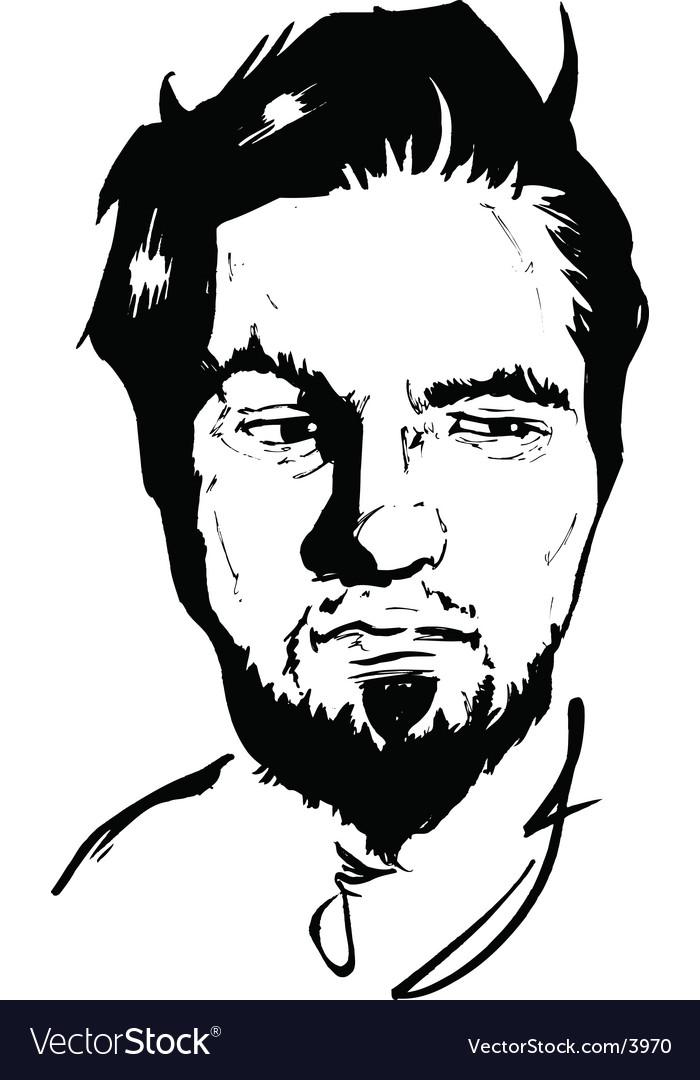 Suspicious face pen ink vector | Price: 1 Credit (USD $1)