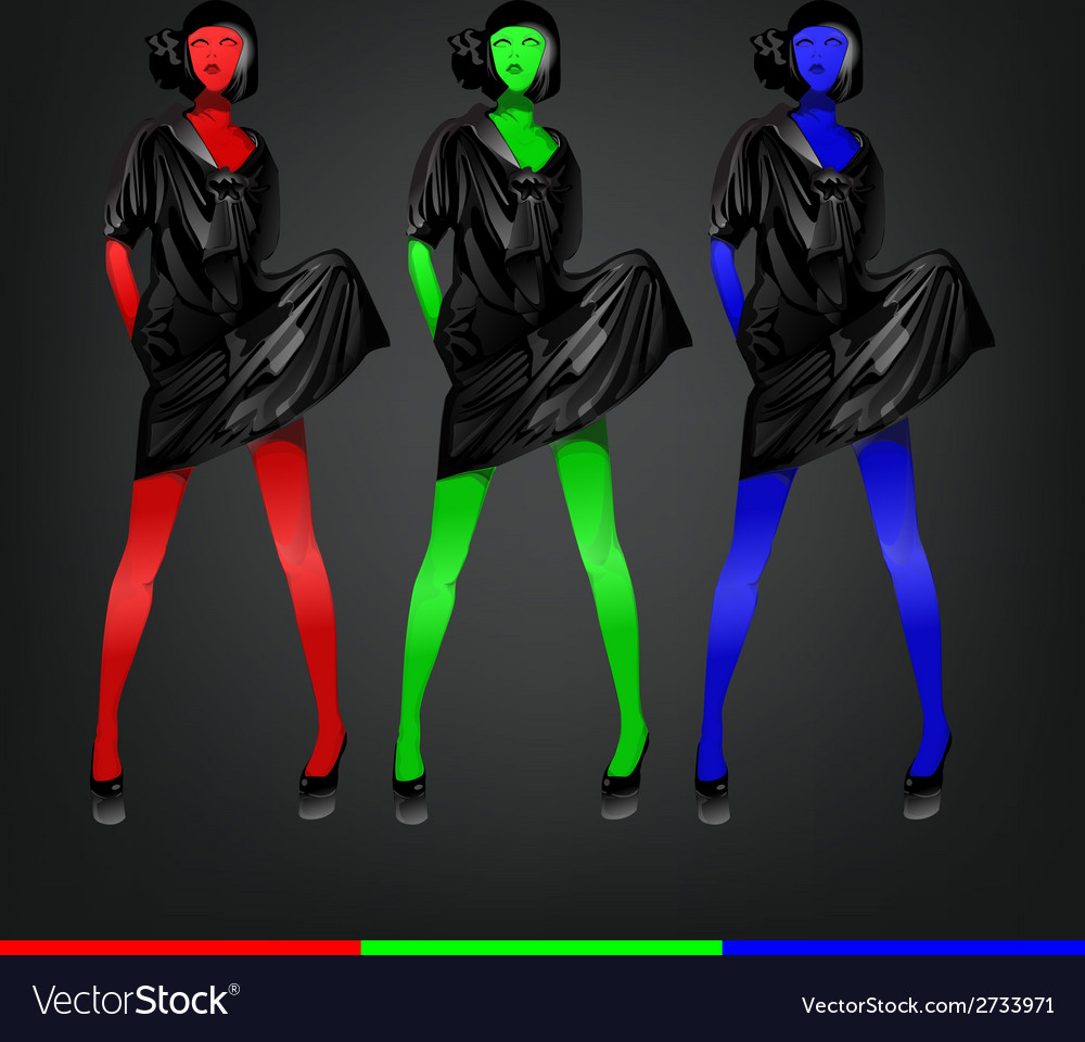 Colorful fashion vector | Price: 1 Credit (USD $1)