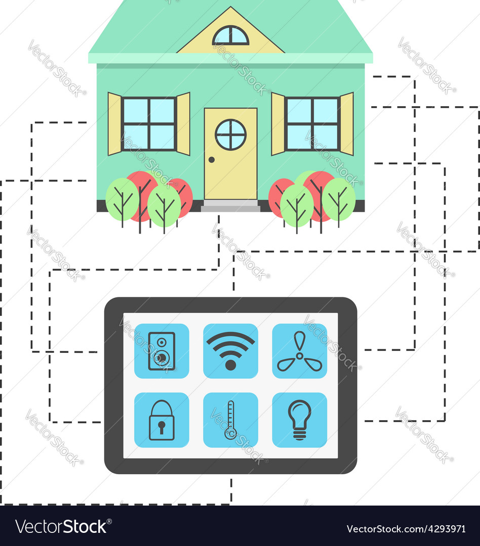 Concept of smart house vector | Price: 1 Credit (USD $1)