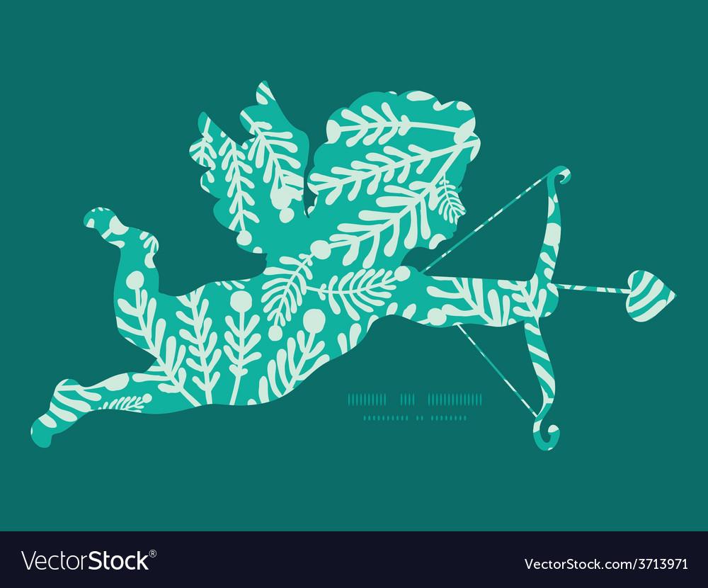 Emerald green plants shooting cupid vector | Price: 1 Credit (USD $1)