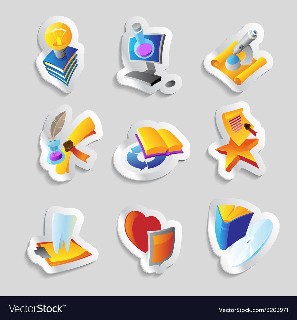 Icons for science education and medicine vector   Price: 1 Credit (USD $1)