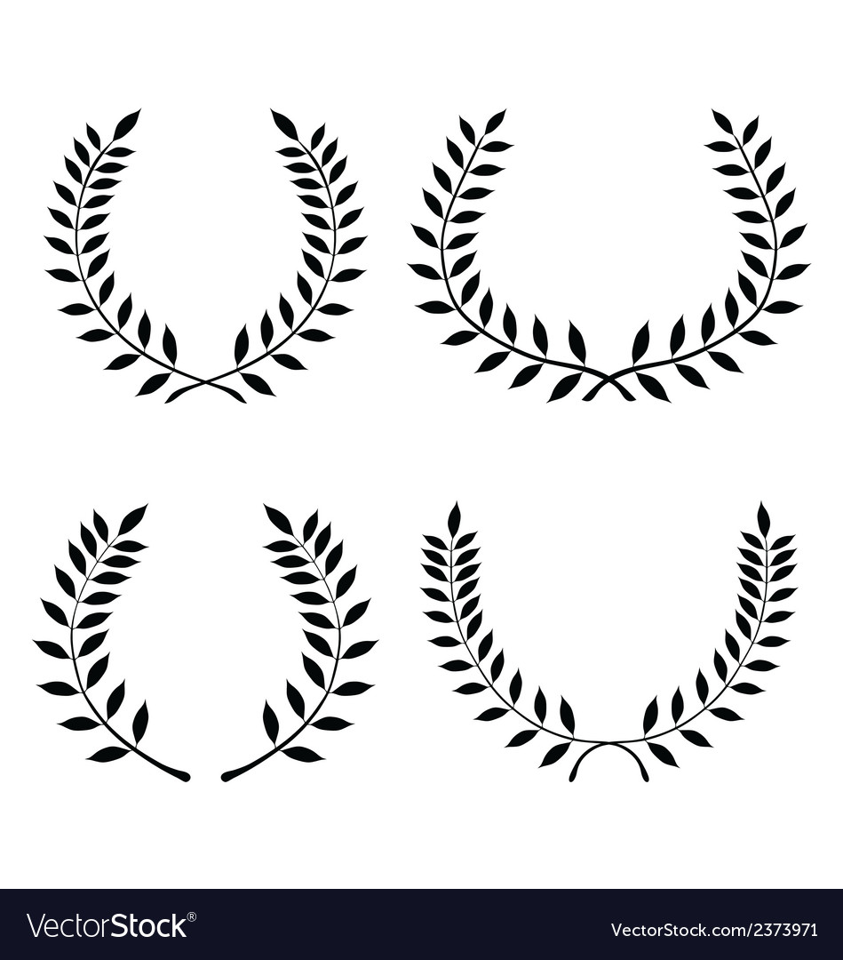 Laurel wreaths 3 vector | Price: 1 Credit (USD $1)