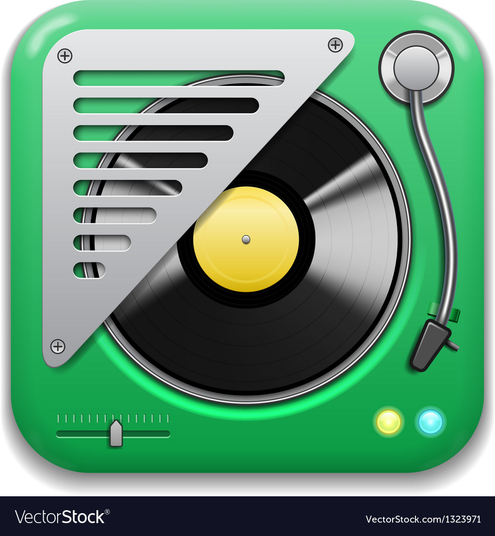 Music app icon vector | Price: 3 Credit (USD $3)