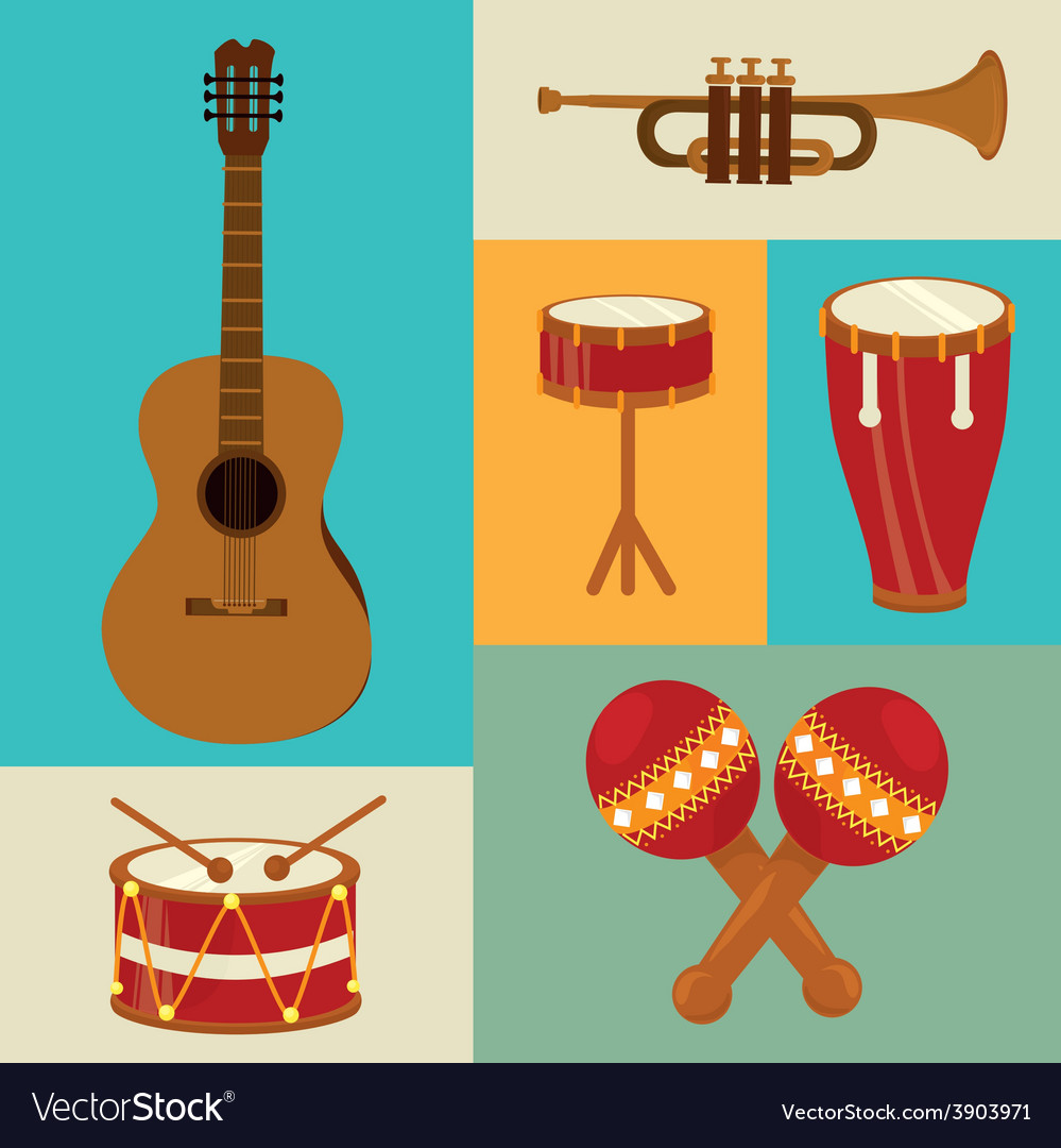 Music design over colorful background vector | Price: 1 Credit (USD $1)
