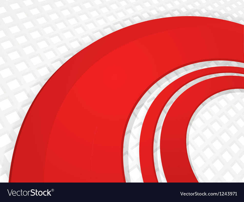 Red 3d wave on white grid background vector