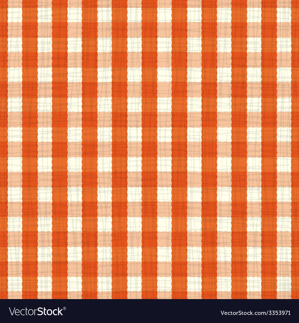 Seamless pattern orange and white tablecloth vector | Price: 1 Credit (USD $1)