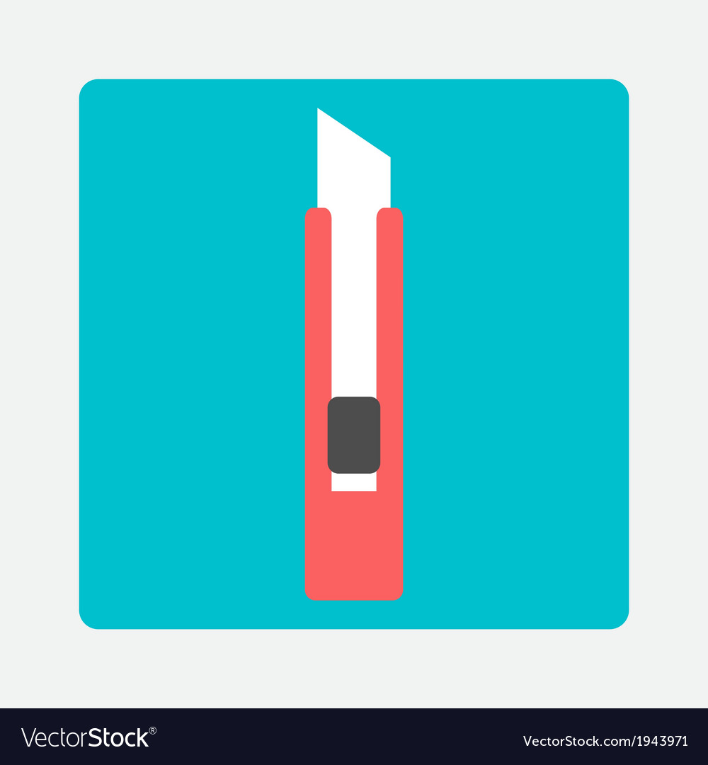 Stationery knife icon vector | Price: 1 Credit (USD $1)