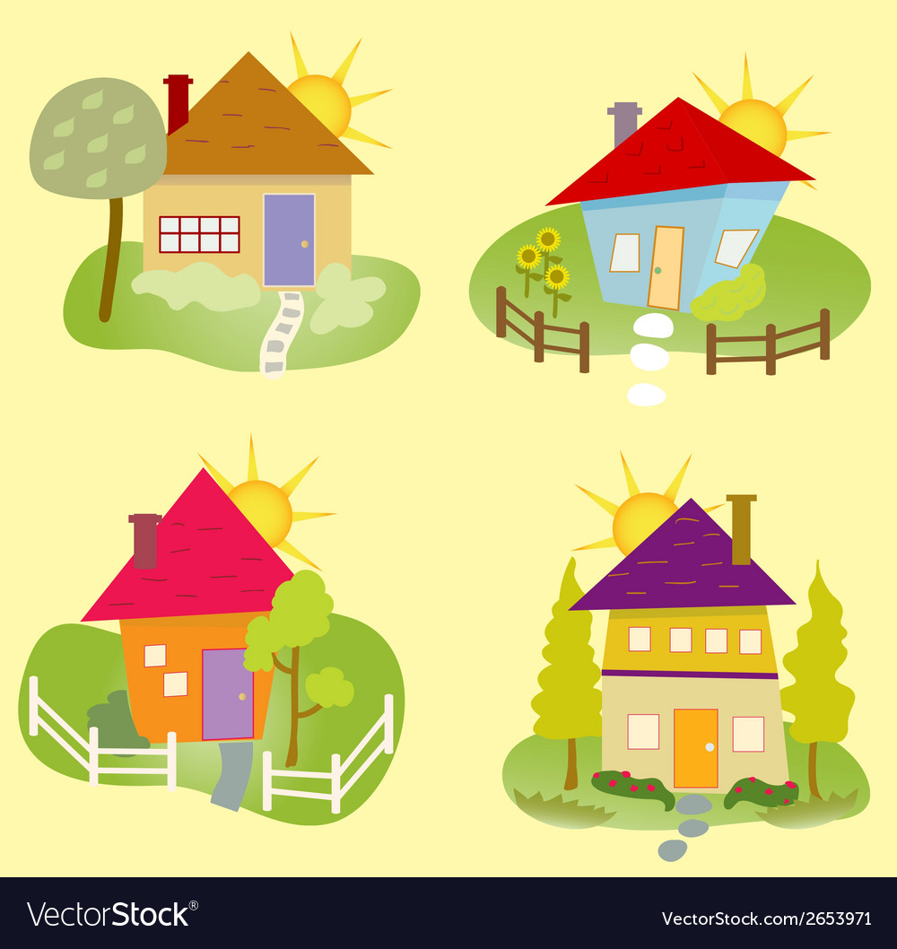 Summer home icons vector | Price: 1 Credit (USD $1)