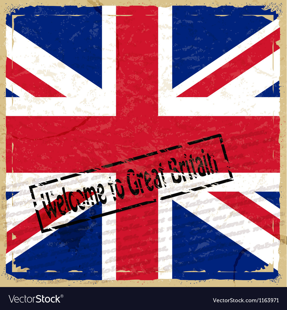 Vintage background with flag of great britain vector | Price: 1 Credit (USD $1)