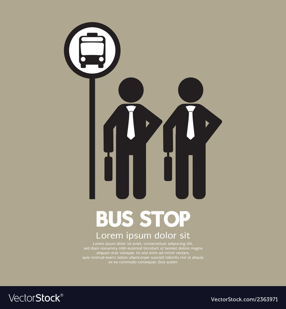 Waiting at a bus stop vector | Price: 1 Credit (USD $1)