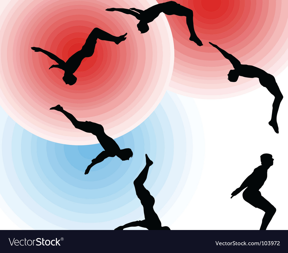 Aerial somersault vector | Price: 1 Credit (USD $1)