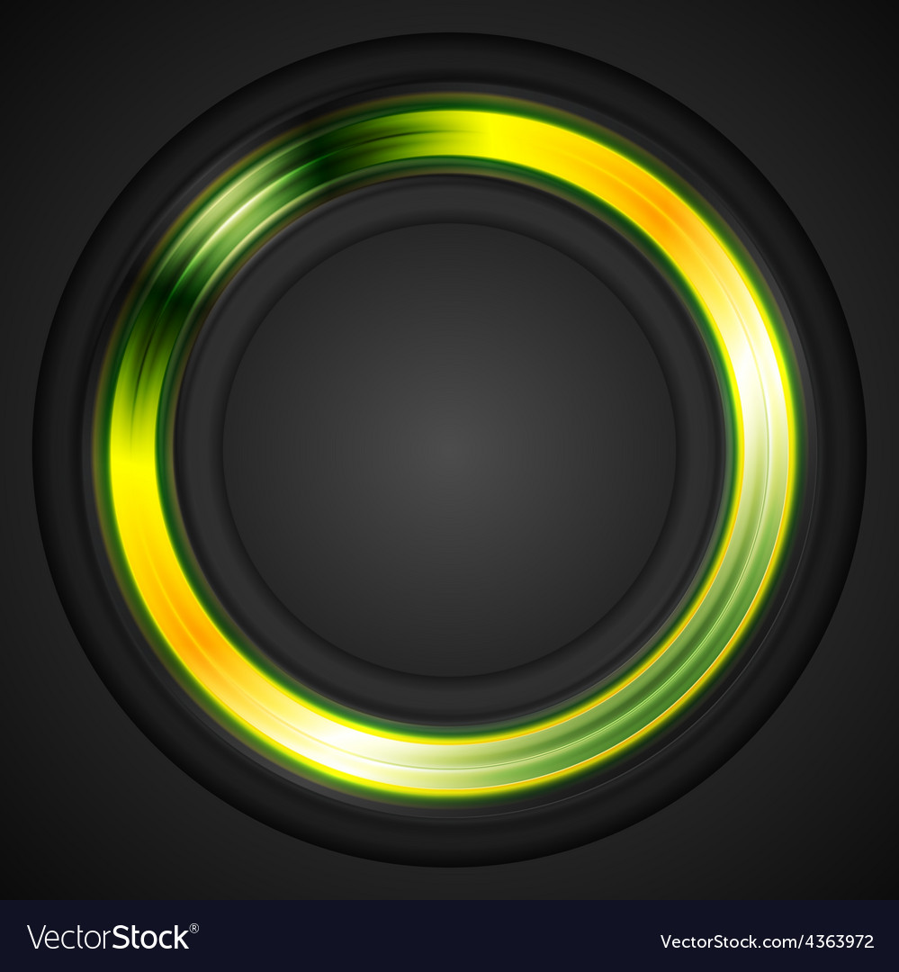Bright glowing circle logo vector | Price: 1 Credit (USD $1)
