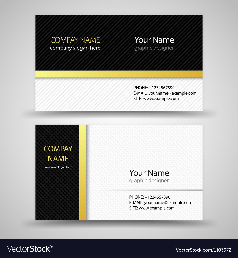 Business cards set template vector | Price: 1 Credit (USD $1)