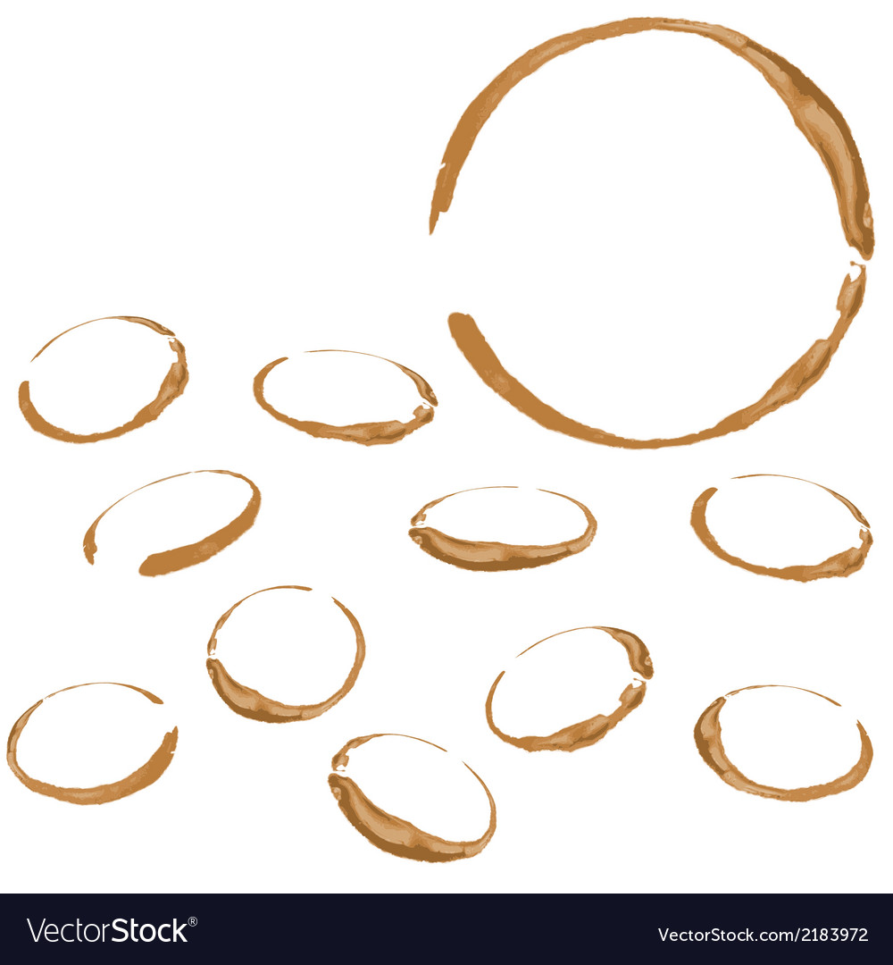 Coffee stain isolated on white background vector | Price: 1 Credit (USD $1)