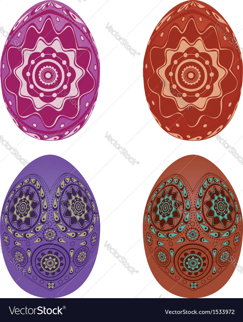 Colorful easter eggs vector | Price: 1 Credit (USD $1)